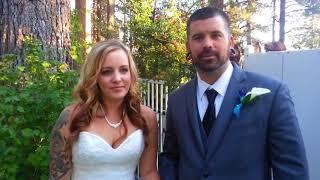 Pine Cone Resort Smithson Bride and Groom Lake Tahoe Wedding Testimonial