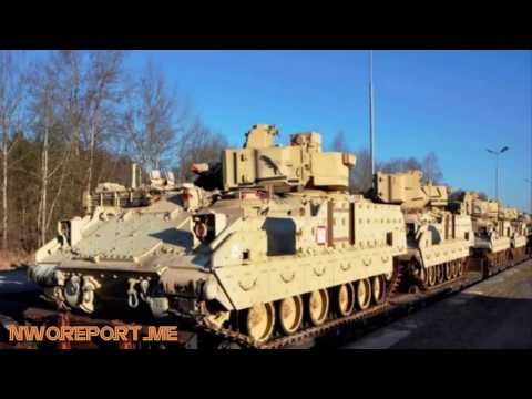 Obama and NATO sends Thousands of Troops and Tanks to Russian  Border