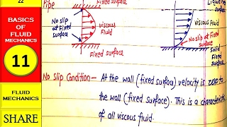 NO SLIP CONDITION IN VISCOUS FLUID -BASIC OF FLUID MECHANICS 11 - ANUNIVERSE 22