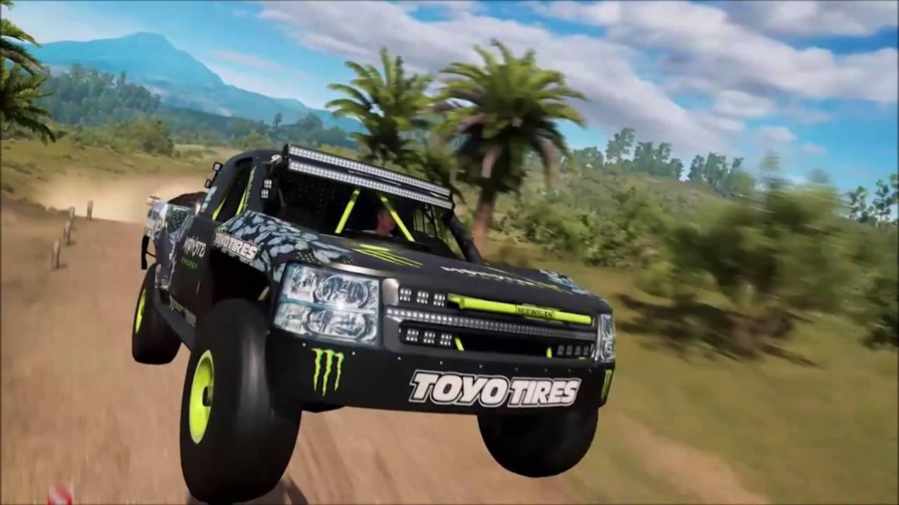 Forza Horizon Lamborghini Gameplay Monster Energy Trophy Truck