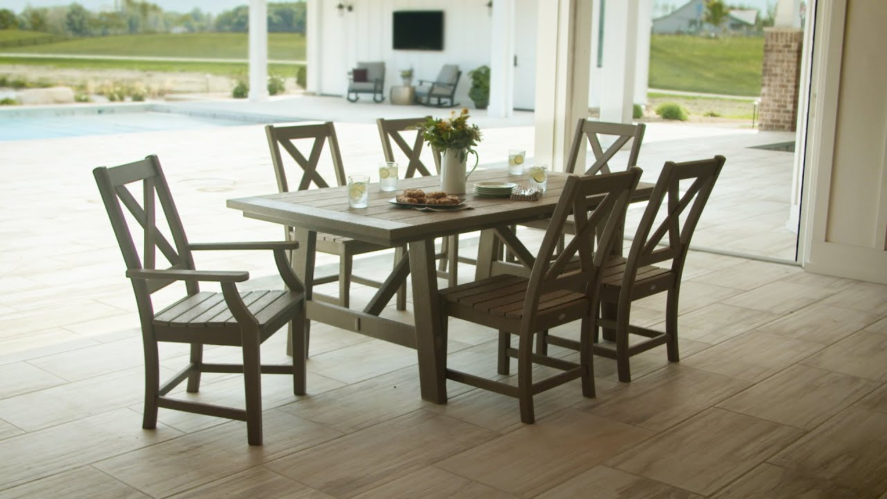 Polywood Braxton 7 Piece Rustic Farmhouse Dining Set Pws507 1 Youtube
