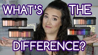 elf Mad for Matte Eyeshadow Palettes   WHAT'S THE DIFFERENCE?   Swatches, Tutorials, Comparisons