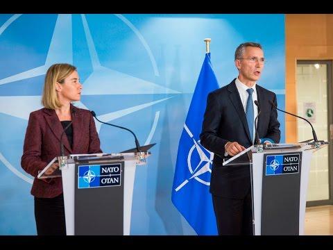 NATO Secretary General with EU High Repr. for Foreign Affairs and Security Policy, 01 DEC 2015