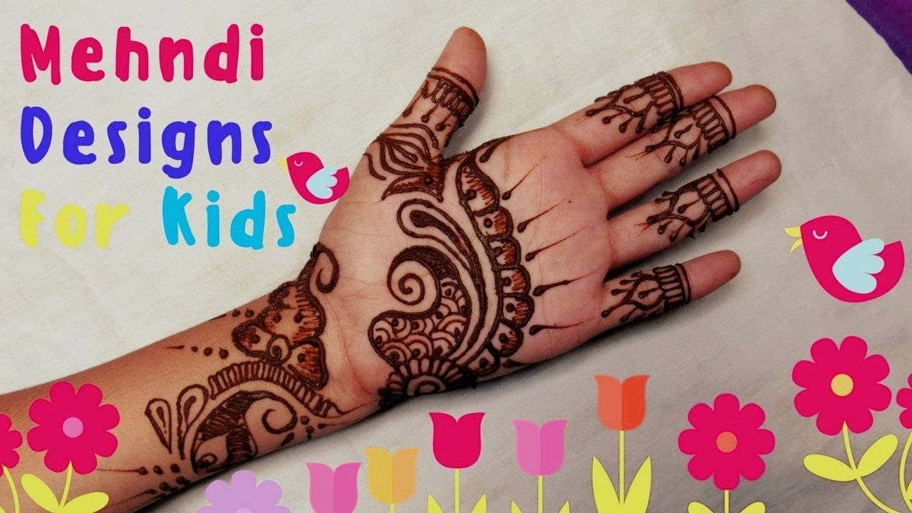 Mehndi For Baby : Beautiful mehndi design for kids simple designs your