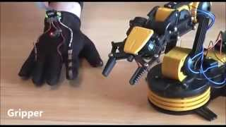Arduino Based Wireless Wearable Controller Owi Robotic Arm