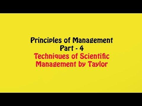 Techniques of Scientific Management, Principles of Management Part - 4, Business Studies Class 12