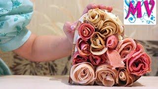 Как сделать Букет съедобных роз. Готовим вместе
