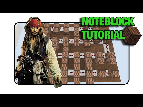 """Pirates Of The Caribbean """"He's A Pirate"""" Doorbell - Note Block """"Tutorial"""" (Minecraft Xbox/Ps3)"""
