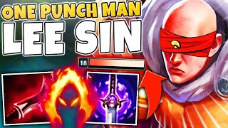 ONE PUNCH MAN LEE SIN! DARK HARVEST + FULL LETHALITY = DEAD ENEMIES - League of Legends