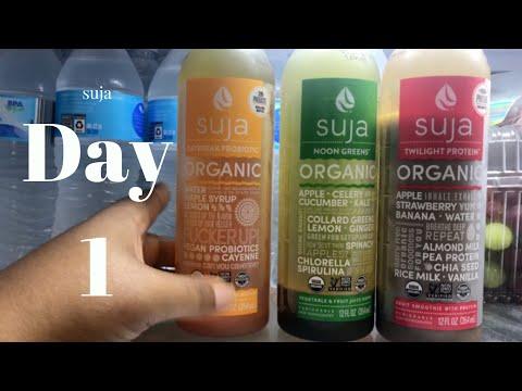 Juice Cleanse DAY 1 | Suja Juice, Alkaline Water, Pumpkin Seeds