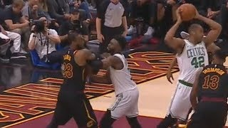 LeBron James And Jaylen Brown Shove Each Other and Exchange Words! Cavaliers vs Celtics Game 6