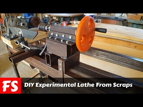 DIY Experimental Lathe From Scraps (FS Woodworking)