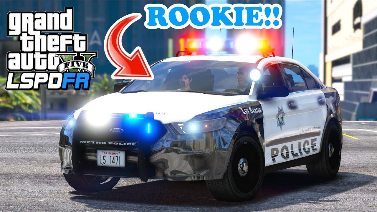 GTA 5 Mods - Training a Rookie Cop    BIG FAIL!! (LSPDFR Gameplay)