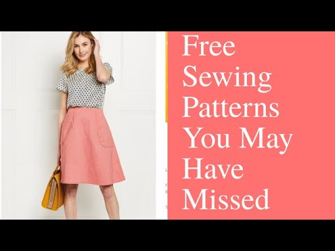 Free PDF Sewing Patterns You May Have Missed - YouTube