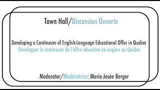 Day 3, 16:00 - Town Hall: Developing a Continuum of Educational Offer