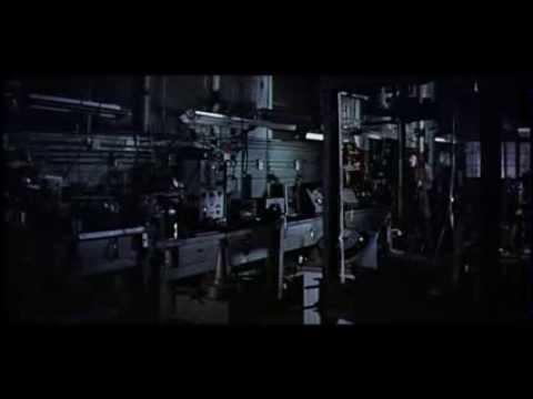 """Pointeuse LATHEM dans """" La Mouche Noire """" avec Vincent Price et Patricia Owens"""