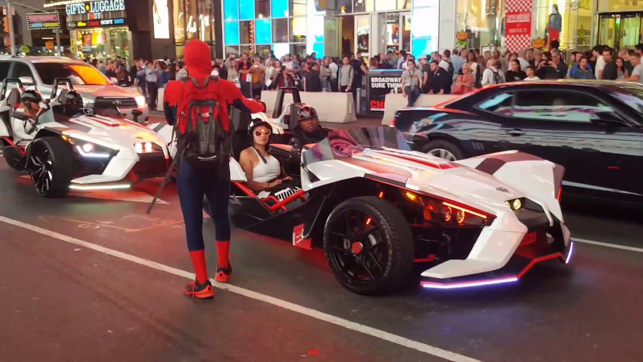 Polaris Sling Shot >> TRICKED OUT Polaris Slingshot SLR On Family Ride-Out NYC - YouTube
