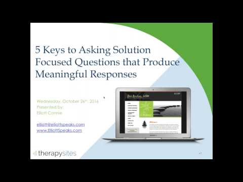 5 Keys to Asking Solution Focused Questions that Produce Meaningful Responses