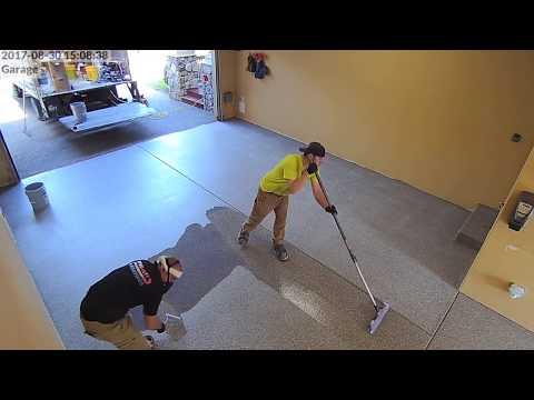 MMA Garage Floor Installation