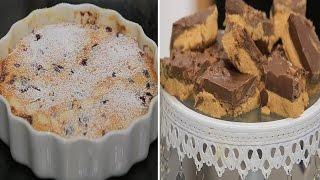 كسرولة اللحم والفلفل المشوي - مربعات الشوكولاتة وزبدة الفول السوداني   زعفران وفانيلا حلقة كاملة