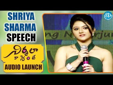 Actress Shriya Sharma Cute Speech  Nirmala Convent  Nagarjuna, Roshan Meka, Shriya Sharma