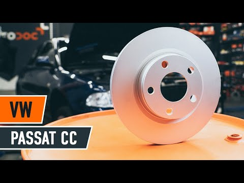 How to replace front brake discs and front brake pads on VW PASSAT CC 1 TUTORIAL | AUTODOC
