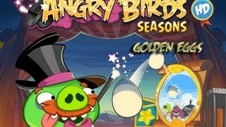 Angry Birds Seasons - Season 3 - Abra-Ca-Bacon Golden Eggs Walkthrough