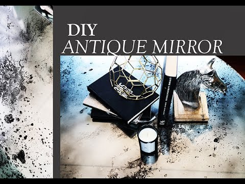 Diy Mercury Glass Antiqued Mirror Upcycled Coffee Table Mid Century Modern