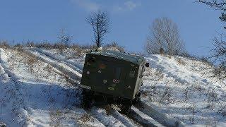 Попытка перевернуть ГАЗ-66, ОЧЕНЬ КРУТОЙ снежный ПОДЪЕМ off road 4x4