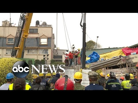 Rescue efforts continue after devastating earthquake in Mexico City