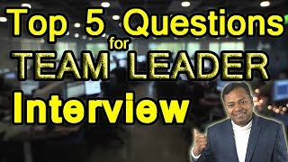Top 5 Questions for Team Leader Job Interview | Career Guidance in English
