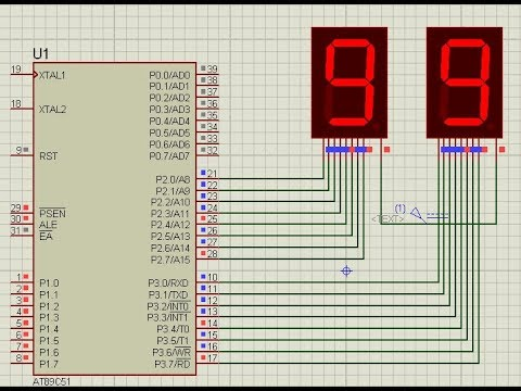 Counting From 0 To 99 Using 8051 Microcontroller With 7 Segment Display Youtube