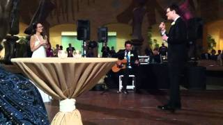Andrew sings at his wedding