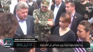 مصر العربية   رؤساء مقدونيا وسلوفينيا وكرواتيا يزورون مخيم لاجئين على الحدود اليونانية
