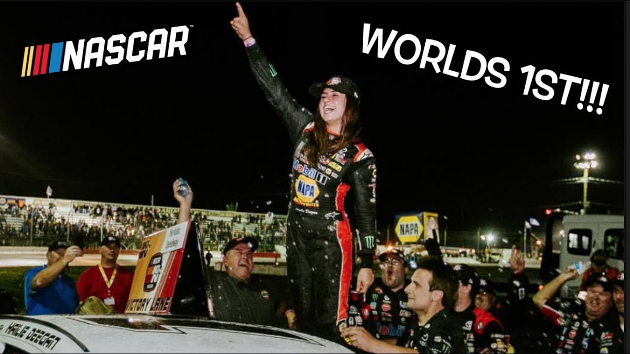Download HAILIE DEEGAN MAKES HISTORY!!! First female to WIN a NASCAR pro series race!