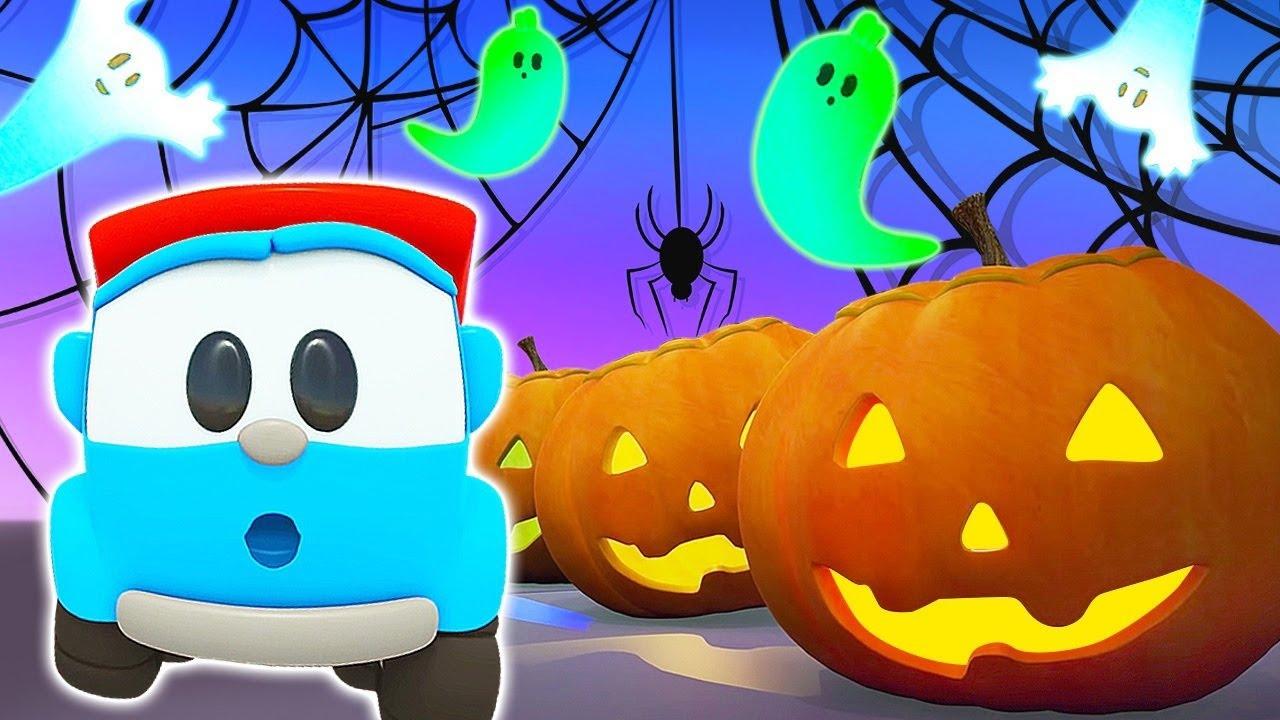 Halloween cartoons for kids & car cartoons for kids - Leo the Truck & Halloween songs for kids.