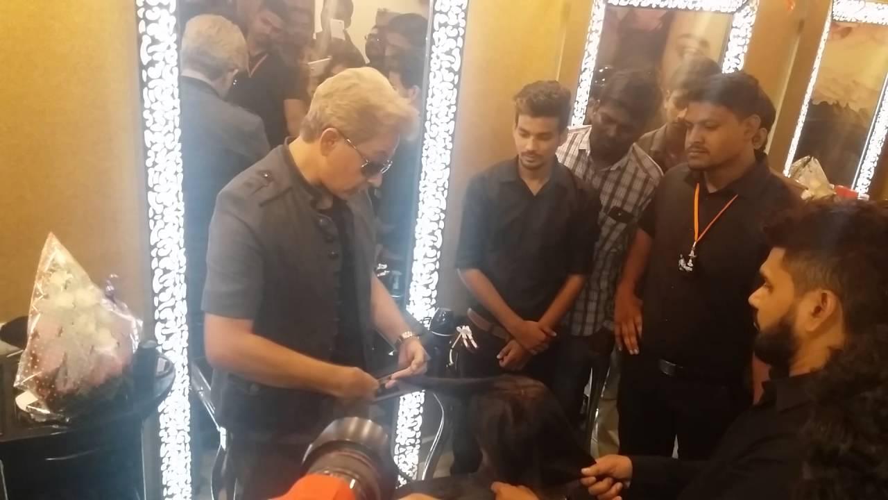 Jawed Habib Hair Cut Demo With Comedy In Vijayawada Youtube
