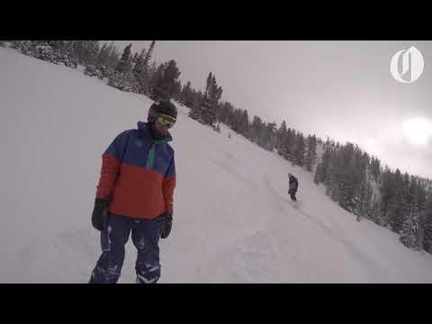 Backcountry skiing near Baker City, Oregon