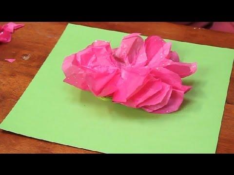 Kindergarten Rose Craft : Paper Flower Crafts