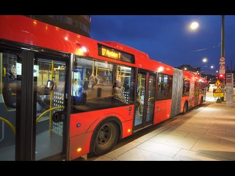 Norway, Oslo, Ride With Bus No 37 From Grønland To Jernbanetorget (Central Station)