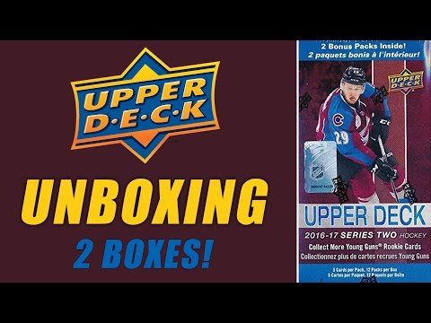 Upper Deck 2016-2017 Hockey Cards Unboxing