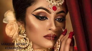 INDIAN BRIDAL MAKEUP *HD MAKEUP*BENGALI BRIDE*MODERN LOOKS*SABYASACHI BRIDE*