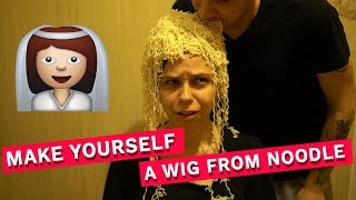 CHALLENGE: MAKE YOURSELF A WIG FROM NOODLE