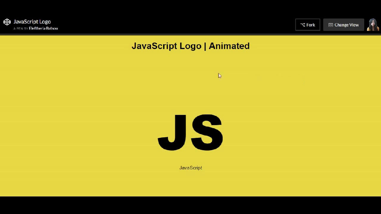 How to pure css that - JavaScript Logo Animation (for beginners!)
