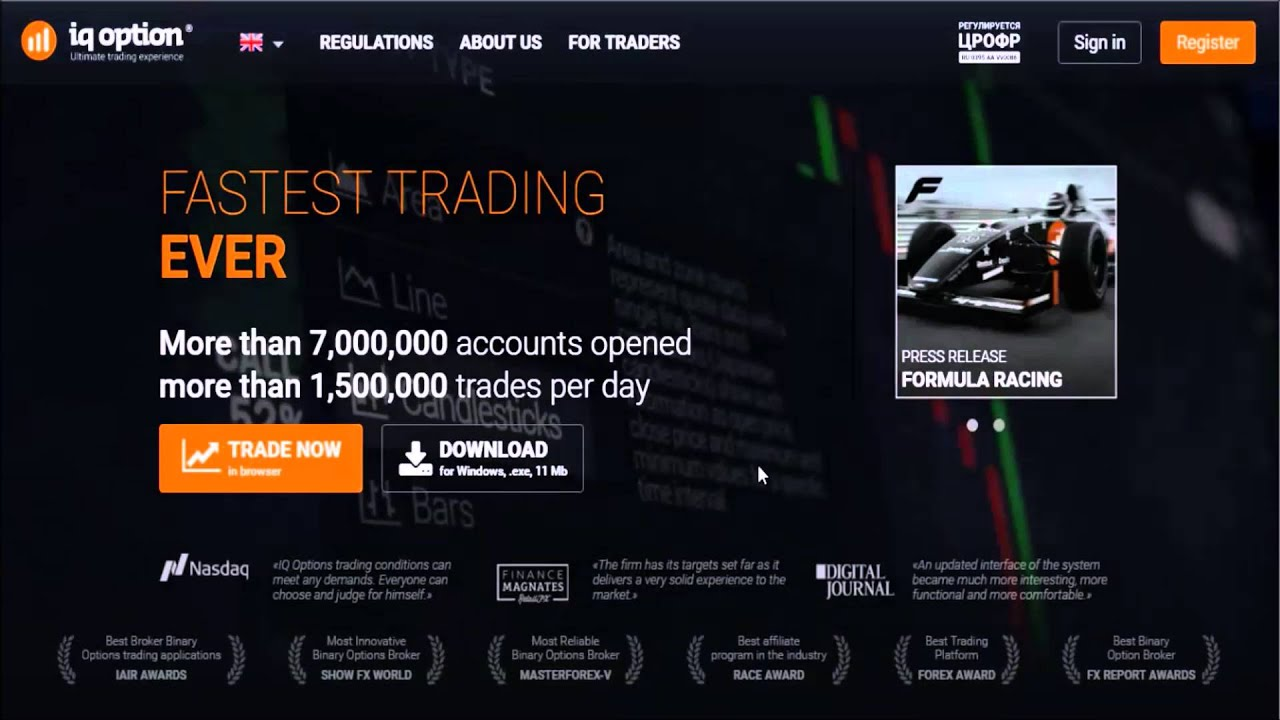 Free binary trading account