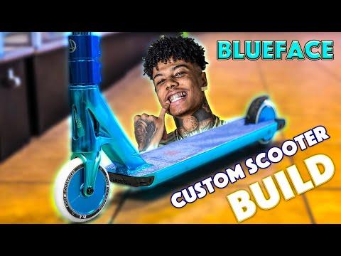 BLUE FACE CUSTOM SCOOTER BUILD!