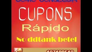 COMO PEGAR CUPONS RÁPIDO (DDTANK BETEL)