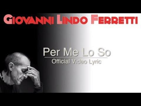 Giovanni Lindo Ferretti - Per Me Lo So (Official Video Lyric)