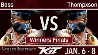KIT17  - UA   Bass (Jago, Spinal) vs BH   Thompxson (Jago) Winners Finals - Killer Instinct
