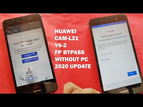 HUAWEI CAM-L21 Y6-2 FRP Bypass 2020 Update Without PC 100% Working